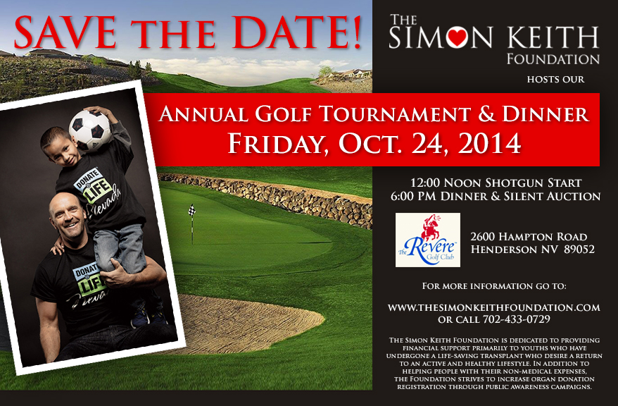 Save the date - Oct 24 2014 - Golf Tournament & Dinner